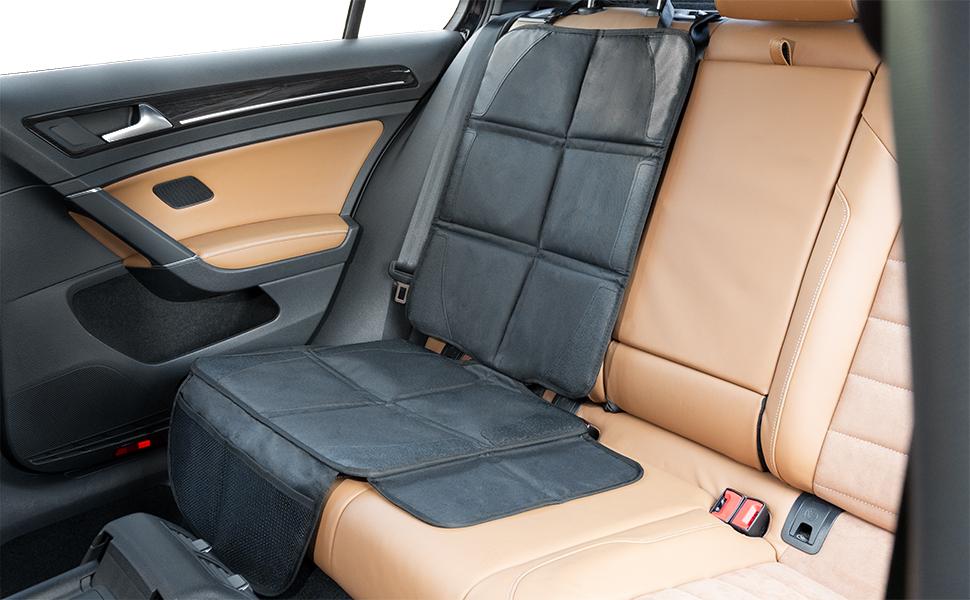 negro ISOFIX Fundas para sillas de coche Protege tu coche Protector seguro para asiento infantil LIONSTRONG