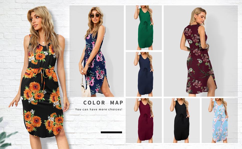summer sleeveless dress with pocket
