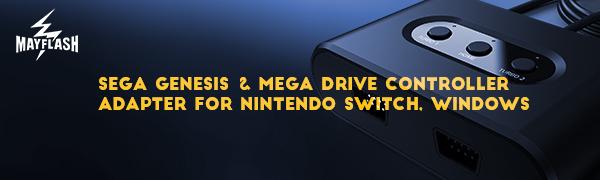 MAYFLASH SEGA Genesis Mega Drive Controller Adapter for Nintendo Switch amp; PC Windows