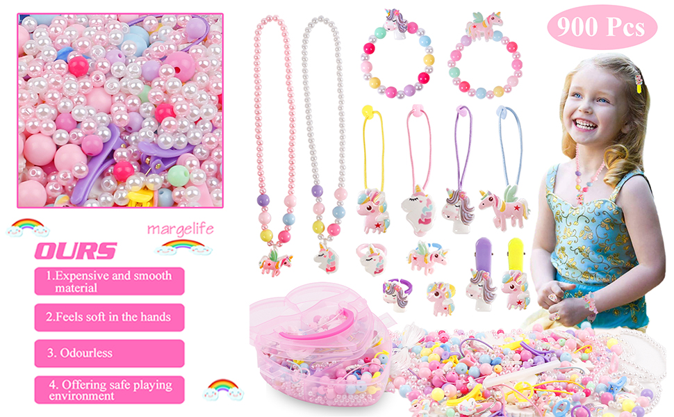 Art Craft /& Jewellery Beads Bracelet Making Kit for Girls Gifts Kids Friend Childrens Art and Crafts NASHRIO Children DIY Bracelet Making Set Colorful Ropes Beads Kit for Making Necklace Bracelet
