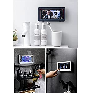 Shower phone bathroom phone holder