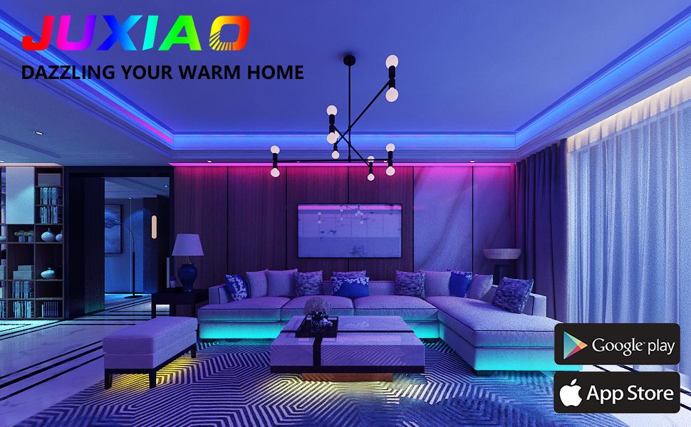 Led Strip Lights for Bedroom 50 Feet