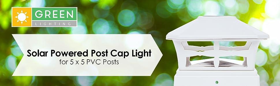 solar powered post cap light