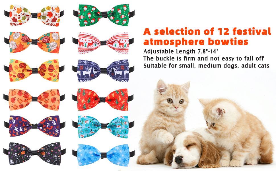 Halloween Pet Bow Floral Spider Web 3.5 Faux Leather Dog Cat Neckware Collar Attachment Pinwheel Style