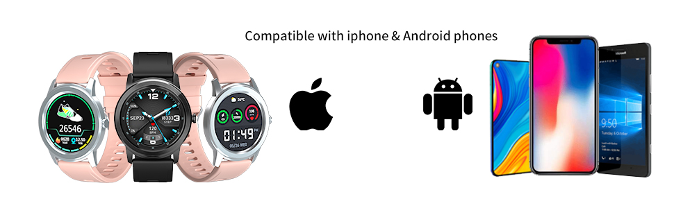 smart watch compatible with iphone and android phone