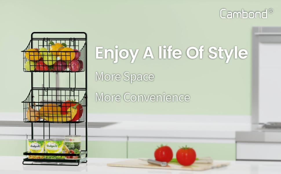 3 tier fruit baskets