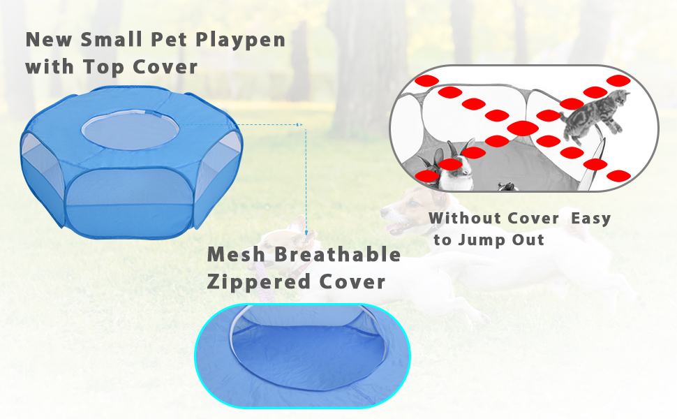 pet playpen with top cover