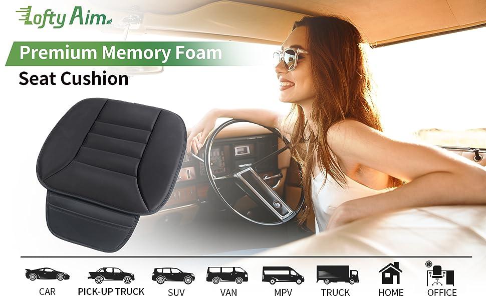 car seat cushion, seat cushion for truck driver, car cushions for driving, driver seat cushion