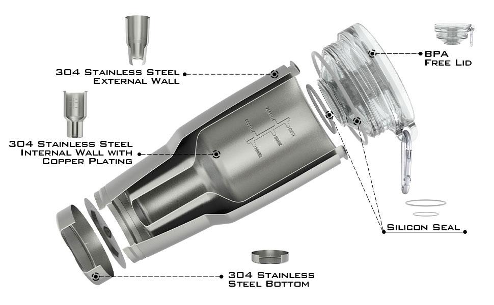 tumbler insulated stainless steel tumbler 20 oz 30 oz