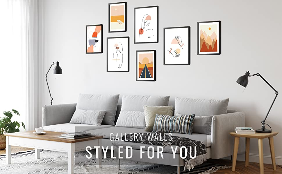 great gallery walls for living rooms