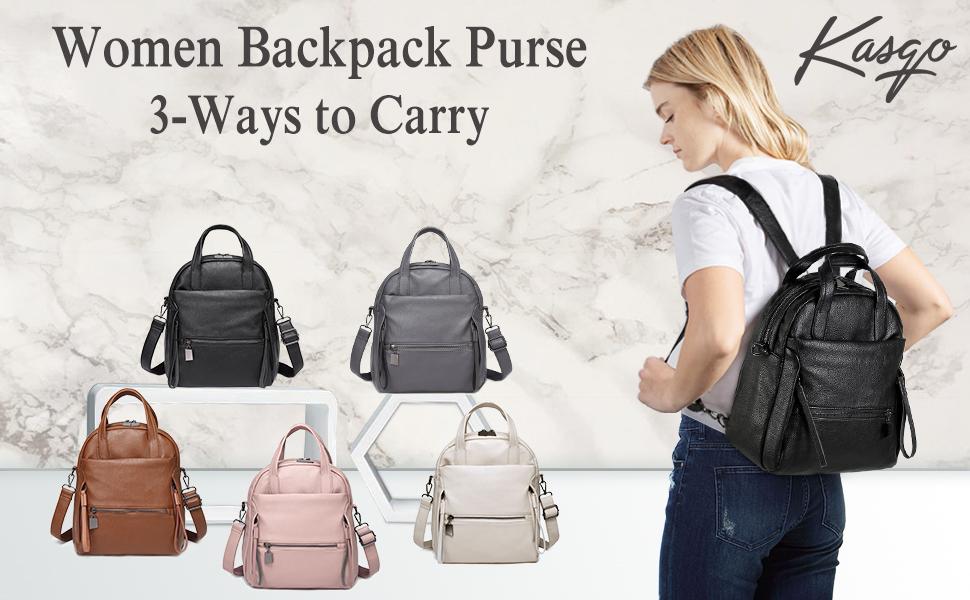 kasqo women backpack purse