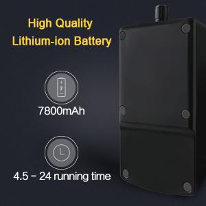 7800mAh High Capacity Provides 4.5~24h Run Time