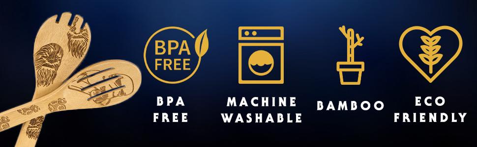 BPA Free, Machine Washable, Bamboo