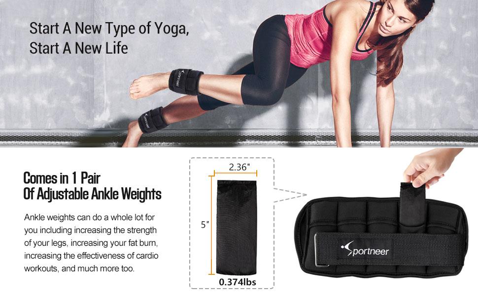 Hiking Fully Adjustable Ankle Wrist Arm Leg Weights Speed Walking