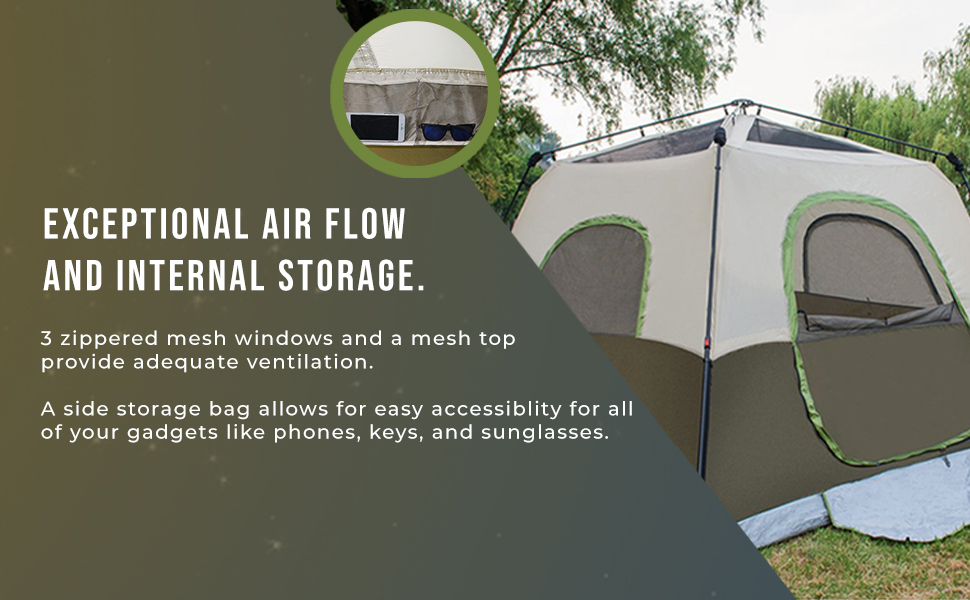 camping tent with exceptional air flow