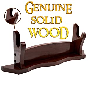 Mythrojan Genuine wood sword stand katana SCA collector display stands SCA wall knight medieval LARP