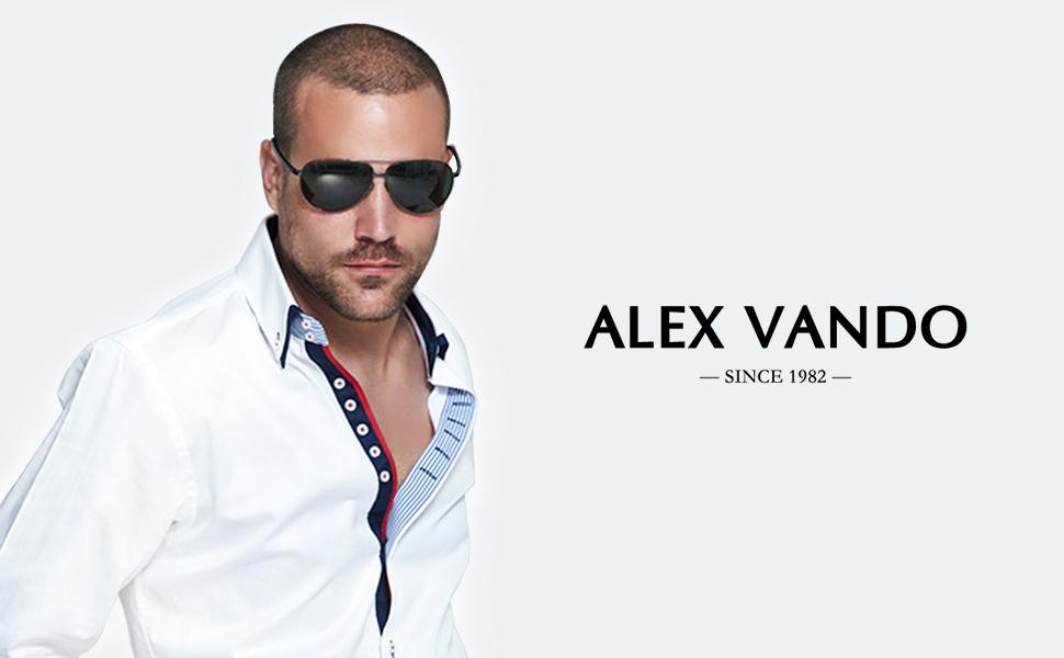 Alex Vando Mens Dress Shirts Long Sleeve Regular Fit Casual Men Shirt