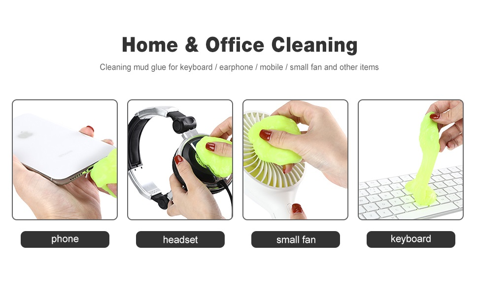 multipurpose computer laptop keyboard dirt dust remover cleaning slime gel putty jelly cleaner