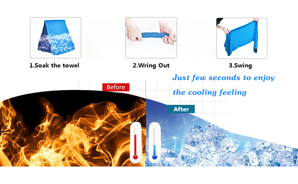 3 Steps to get instant cooling effect
