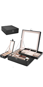 Two Layers Large Jewelry Box