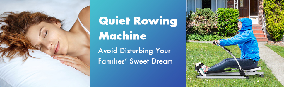 Quiet rowing machine avoid disturbing your family and workout anytime you want