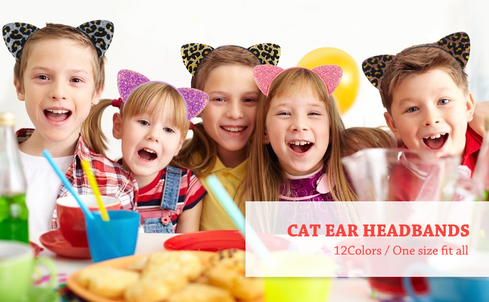 Cat ear headbands for kids girls