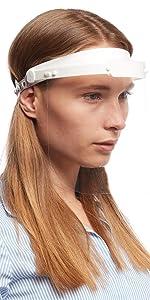 Visier Gesichtsschutz Schutz Helm Gesichtsschutzschild Gesichtsvisier Augenschutz Augen Spritzschutz vor Fl/üssigkeit Face Shield Schirm Spuckschutz
