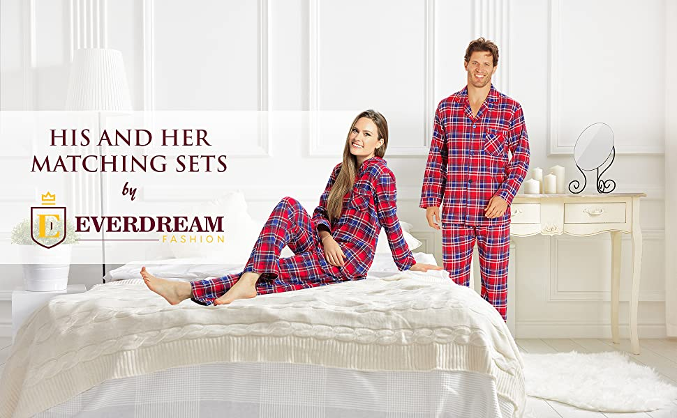 Everdream His and Her Matching Pajama Set