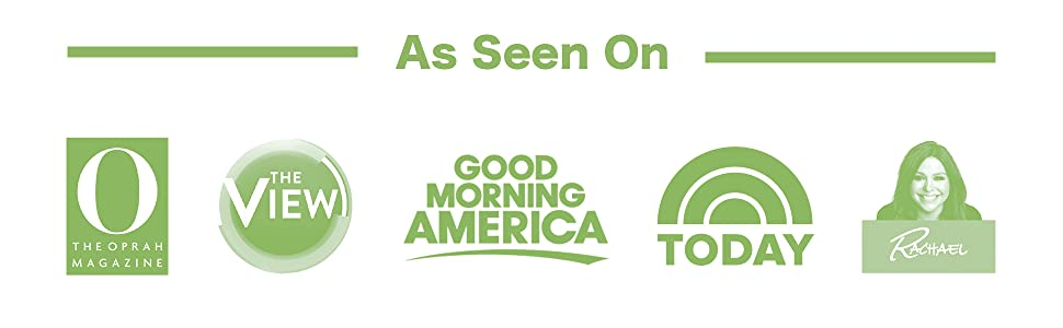 As Seen On Good Morning America, Today Show, Rachael Ray, The View, Oprah Magazine, & Kickstarter