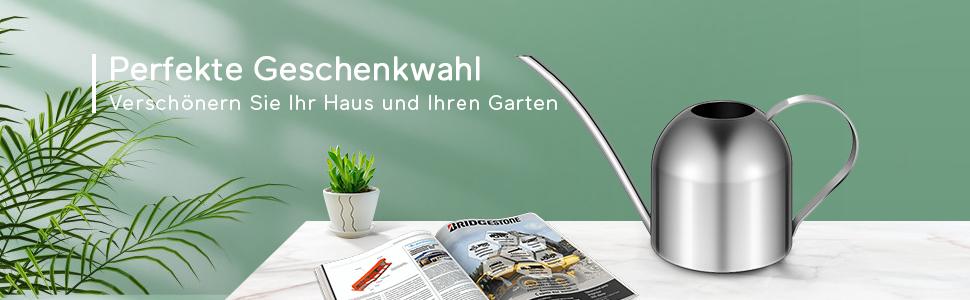 Yardwe Edelstahl Gie/ßkanne f/ür Pflanzen Indoor Haus Langen Auslauf Gartenbew/ässerungstopf Garten gie/ßkanne f/ür zimmerpflanzen 500ml Golden