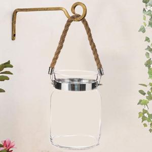 Glass Larten Tealight Candle Holder Rope Indoor Outdoor Living Room Bedrom Home Decoration Gift Item
