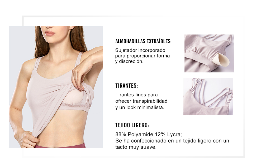 CRZ YOGA Mujer Deportiva Tirantes de Fitness X-Back Tank ...
