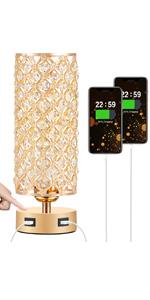 gold bedside lamp
