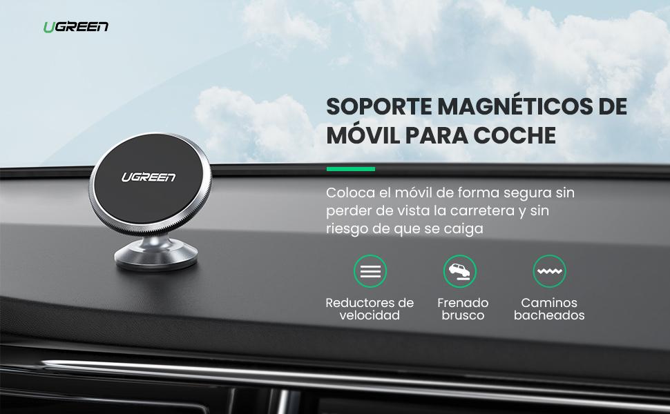 Soporte Magnetico Iman M/óvil Coche Car Mount Holder con Adhesivo 3M Rotaci/ón 360/° Sujeccion para Samsung S20 S10 S9 iPhone 11 Pro X XR Xiaomi Redmi Note 8 Mi10 UGREEN Soporte Movil Coche Magnetico