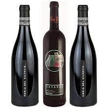 Estuche para los amantes del vino con una botella de Carabal Rasgo y Habla del Silencio: Amazon.es: Alimentación y bebidas