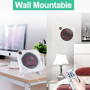 wall mounted cd player