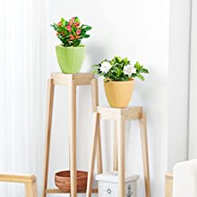 plant pots in desk