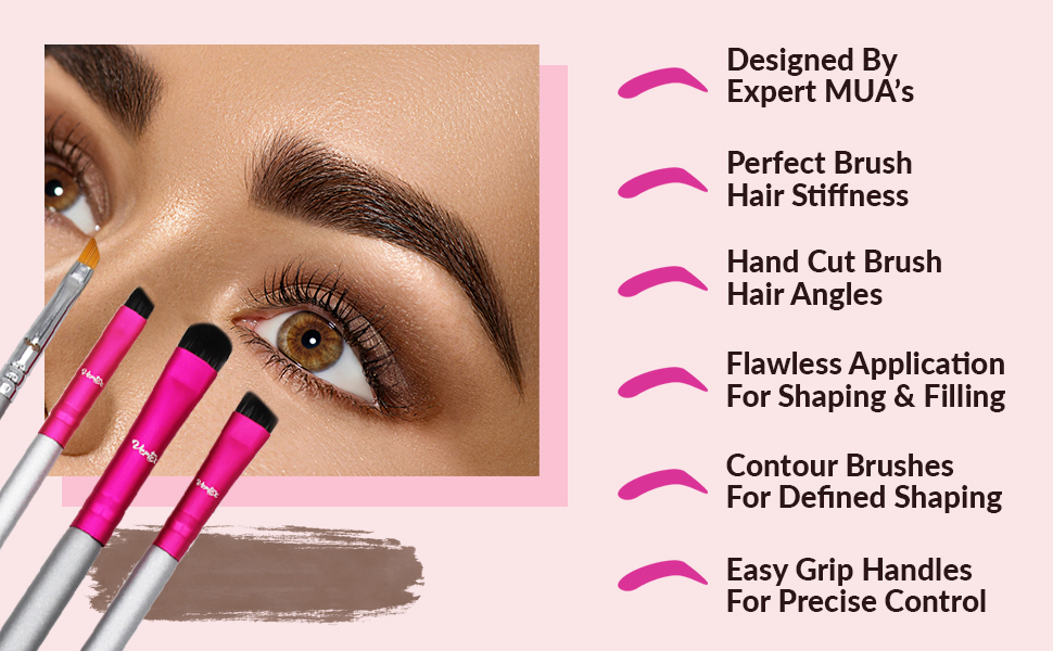 Precision emaxdesign cosmetics maquillaje flat crown make up difuminar sombras ojos bristles under