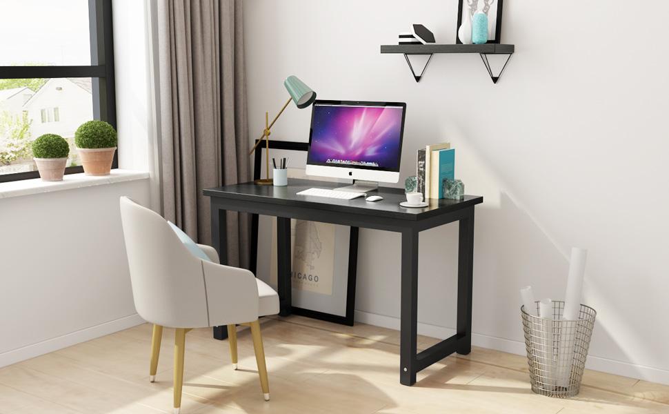 tribesigns modern computer desk office desk