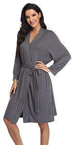 Women's Cotton Short Robe