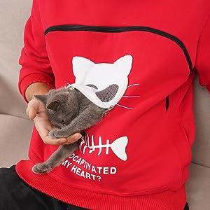 ねこ 遊び 抱っこ服 抱っこ用服 猫抱っこ用パーカー 長袖
