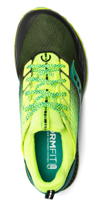 saucony mad river tr trail running shoe in citron black