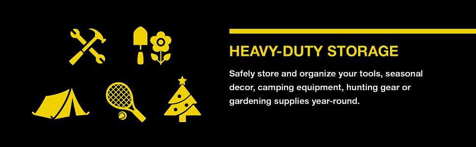 heavy-duty storage, bins, boxes, totes, organization, tools, decor, camping, hunting, gardening