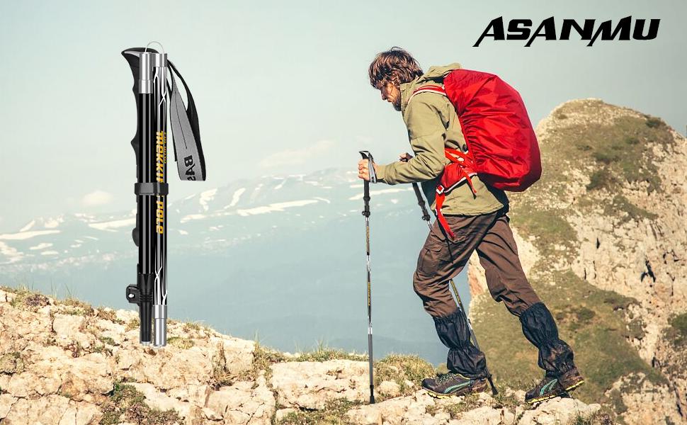 Alu Trekkingstöcke Kork Wanderstöcke Antishock Wandern Bergsteigen