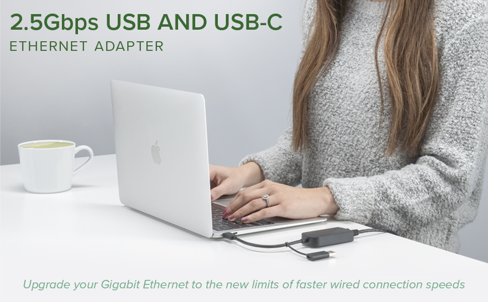 Plugable, ethernet, adapter, USBC-E2500