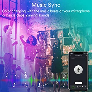 Party Lights Music Sync Color Changing