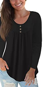 CPOKRTWSO Plus Size Casual Tops for Womens Blouses
