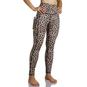 ODODOS High Waist Pattern Yoga Leggings with Side Pockets