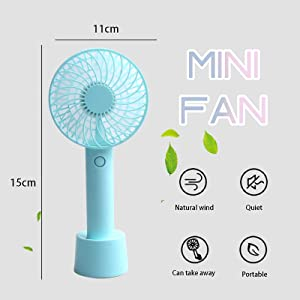 portable fan rechargeable usb mini kitchen fans home small battery cell operated blade chargeable