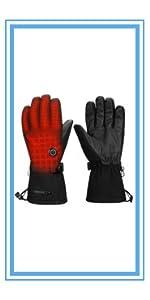 Guantes Calefactables Frio Extremo Guantes De Pantalla T/áctil/de Invierno Touring Impermeables Guantes T/érmicos Recargables para Moto Ciclismo Deporte Ski